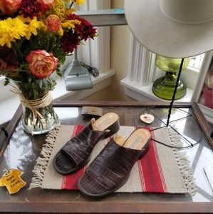 Vintage Coach Sandals - Brown Leather